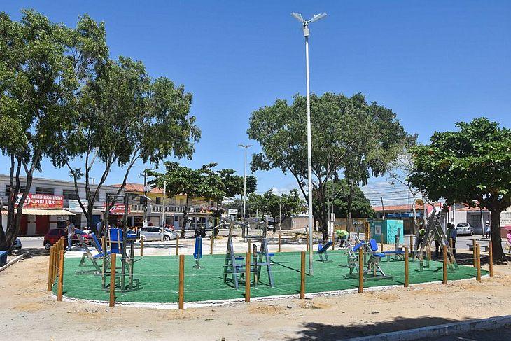 Feitosa ganha nova academia; prefeito vistoriou obras nesta quinta - TNH1