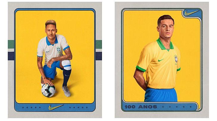 9e05a00a5d908 Fotos: Seleção Brasileira apresenta novos uniformes para a Copa América