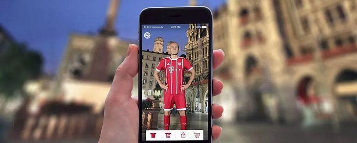 b27c16a05b App de realidade aumentada do Bayern Munich leva os jogadores para ...