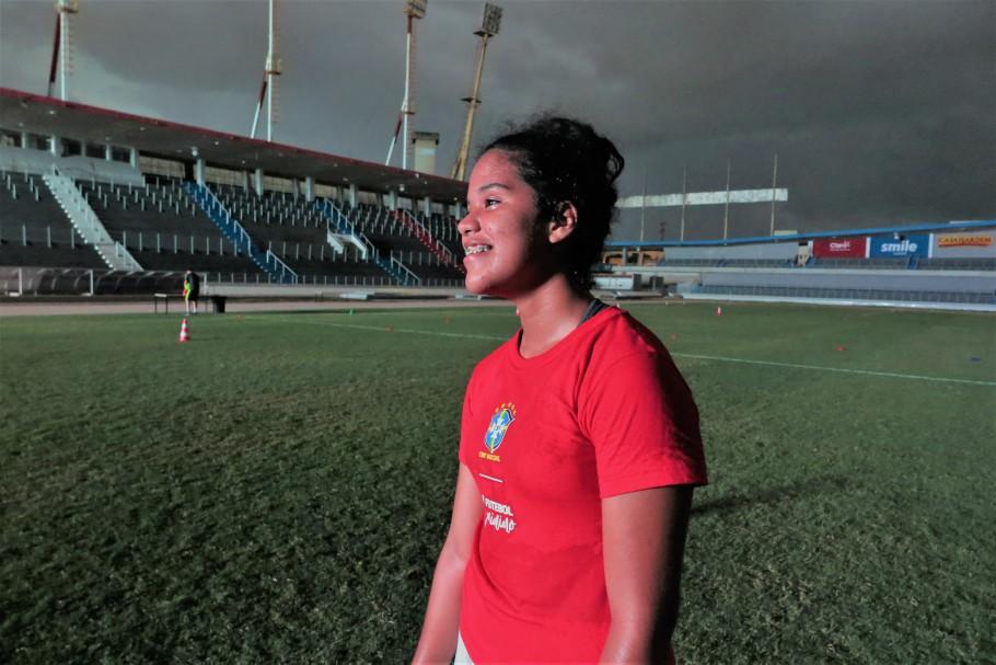 Festival de Futebol Feminino no Estádio Rei Pelé, em Maceió (AL)
